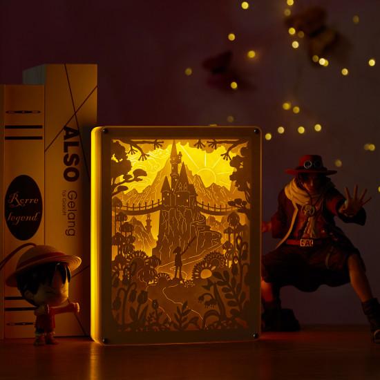 Forest Warrior 3D PAPER CUT LIGHTBOX