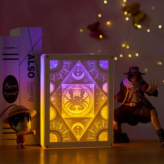 constellation - Cancer 3D PAPER CUT LIGHTBOX