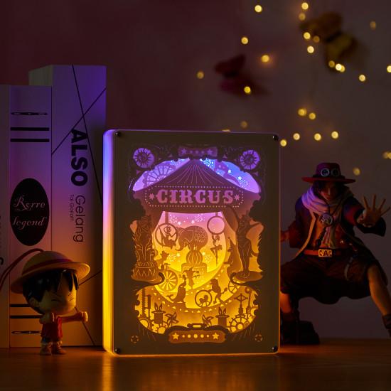circus 3D PAPER CUT LIGHTBOX