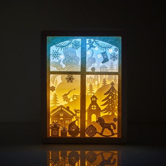 Christmas 04 3D PAPER CUT LIGHTBOX