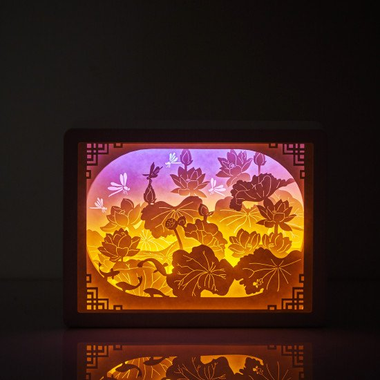 Chinese style 3D PAPER CUT LIGHTBOX