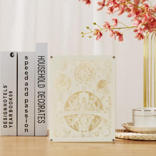romantic 3D PAPER CUT LIGHTBOX