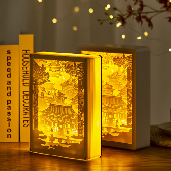 Forbidden City 3D PAPER CUT LIGHTBOX