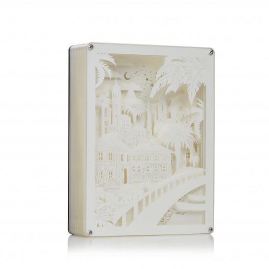 Seaside cottage 3D PAPER CUT LIGHTBOX