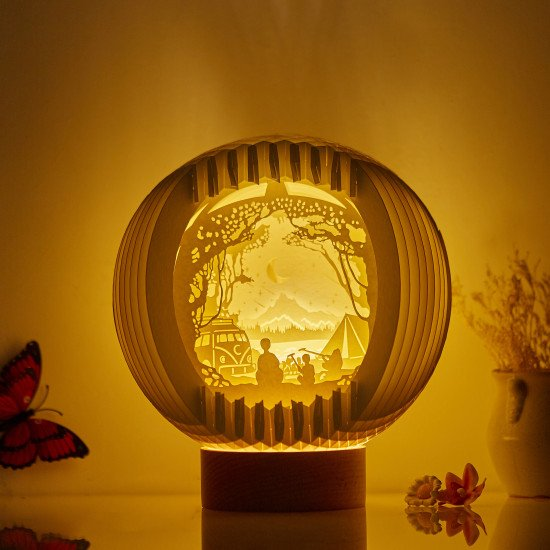 Camping Sphere Pop-up lights