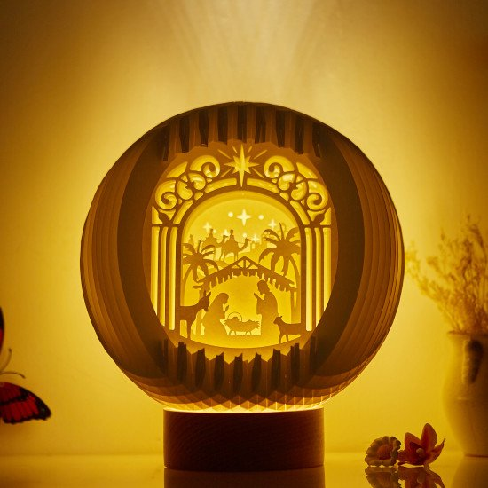 Nativity Of Jesus Sphere Pop-up lights