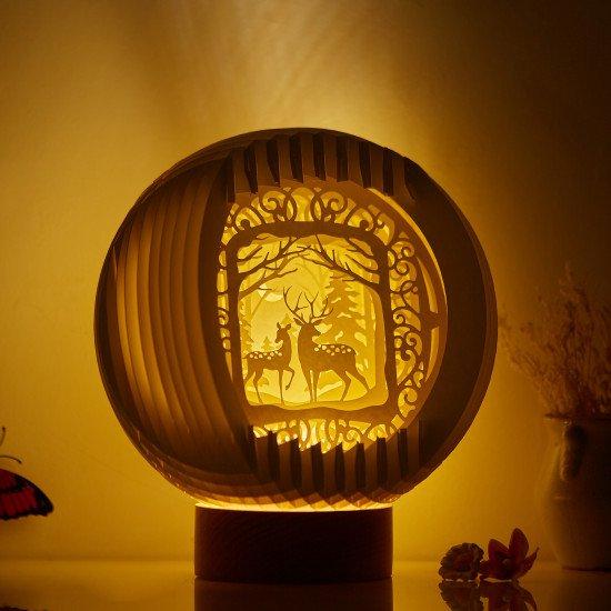 Reindeer Sphere Pop-up lights